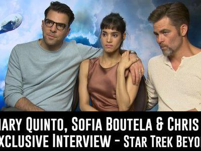 Zachary Quinto, Sofia Boutella et Chris Pine Star Trek au-delà de l'entretien exclusif