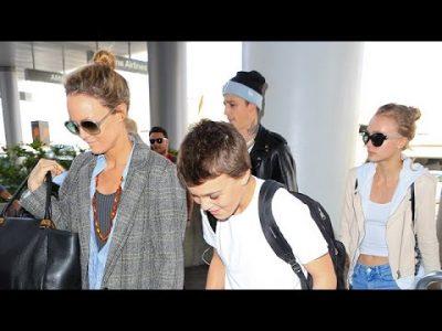Vanessa Paradis, son fils John Depp et Lily-Rose et son petit ami de 24 ans, Ash Stymes